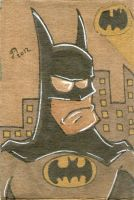 Batman sketch card (cardboard) by johnnyism