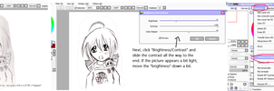 How to make traditional art into line-art on SAI by RainbowIcePop