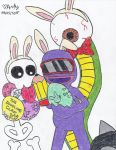 The Doodling Claw Decorates Easter Eggs by cocotapioka