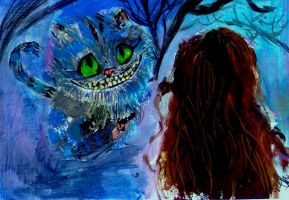 Cheshire and Alice by SophieAnna97