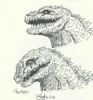 From the Scrapbook: Shin Gojira by smacartus