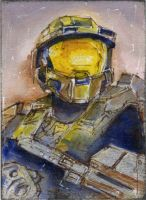 halo master chief by cowpatface