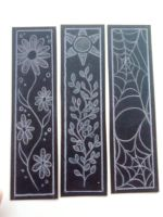 bookmarks in black by Fallen-from-stars