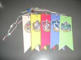 Hogwarts Crests Bookmarks by RoseGranger