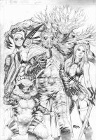 Guardians Of The Galaxy by Fredbenes
