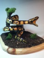Snake painted completed and mounted 2 by rvbass