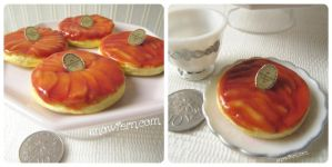 1:3 Miniature Apple Tarte Tatin by Snowfern