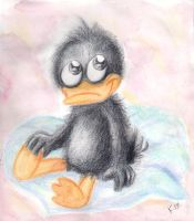Little Daffy after a bath by SnappySnape