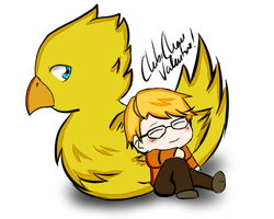 Ronnie and the Chocobo by ChibiChan-Valentine