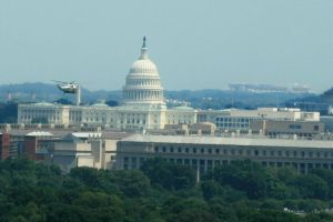 Marine 1 and US Capitol by Kippenwolf