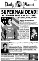 Superman is dead..newspaper. by thecrow1299
