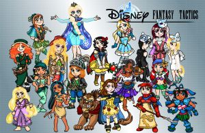 Disney Fantasy Tactics by AmayaMarieSuta