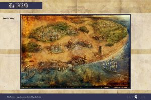 Igg Sea Legend World Map by RodGallery