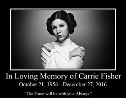 In Loving Memory of Carrie Fisher by Ezmanify