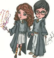 Cute Harry and Hermione by ErikRoger