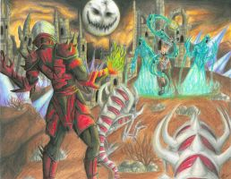 Ghosts VS Ghouls by DragonGirl-Lucky-13