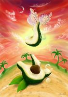 Flying Avocado by masha88