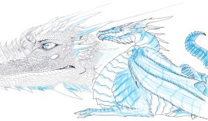 Dragon outline etc by Decadia
