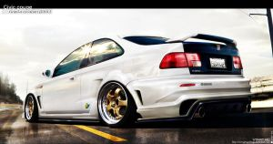 Honda Civic coupe by gringodesign
