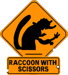 Raccoon With Scissors by PanzerKnacker73