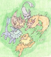 Evee Evolutions by DragonWhelpy