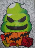 Oogie Boogie cupcake ACEO by LadyNin-Chan