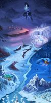 Frozen Free Fall Arendelle Map by appleswithin