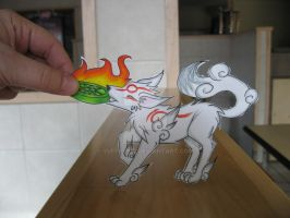 Okami Tug a war :Paper Child: by Yuffie1972