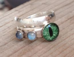 Sterling Silver Cat Eye Ring by LilithLynx