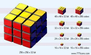 Rubik cube Icon by science-icons
