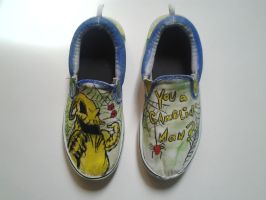 Oogie Boogie shoes by rocket-baby-dolls
