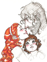 sandor+sansa+baby by hedgehog-in-snow