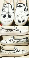 Nightmare before X-mas shoes by TimBurtonFan11