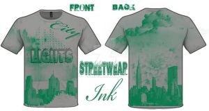 City Lights T-shirt Designed By StreetWear INK by StreetWearinc