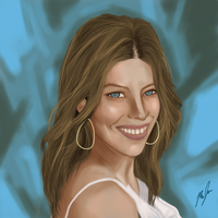 Jessica Biel Painting by MetalFaceAnim
