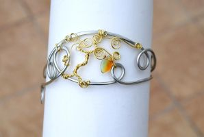 Tree of Life armband in gold color by IanirasArtifacts