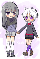 PointCom: Mieko and Kaiden by AppleRawr27