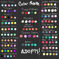 GIANT Color Palette Adopt Dump READ DESC. CLOSED by coolkatadopts