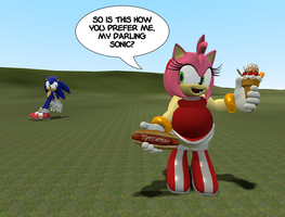 FAT: Amy Rose is 3D by Maxtaro
