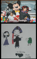Frollo and Mickey Mouse by ChristineFrollophile