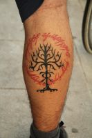 Lord of the rings tattoo by kirtatas