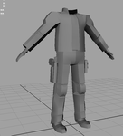 mid poly male character's body for a game by 3rdoption