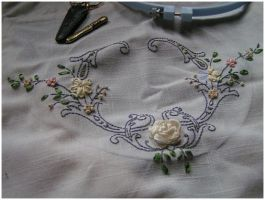 Ribbon Embroidery by Viiictoria