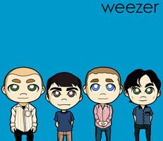 commission weezer - the blue album by animepapertoys