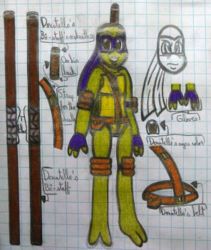 Sketch/Test-For my TMNT AU stuff, Don/Donnie by Soniclifetime