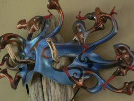 Copperhead Medusa leather mask by faerywhere