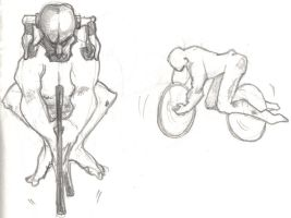 sketchy cyclist by nFalPaz