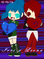 Chibi Iori-Cun and Leona-Mun by LillyGamer