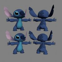 Disney 3D Stitch Textured by 3DPad