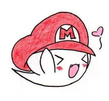Boo with Mario's Hat by LilRen